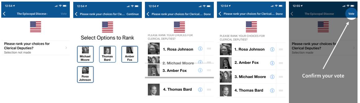 Voatz mobile voting app screenshot