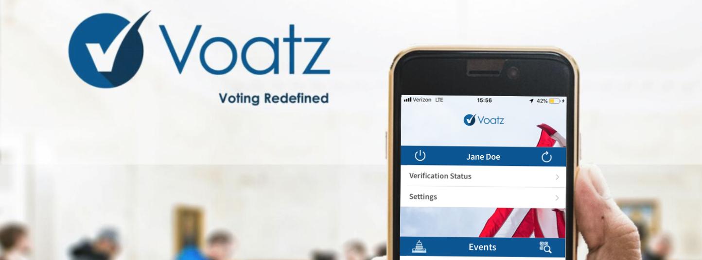 Voatz mobile voting app on phone