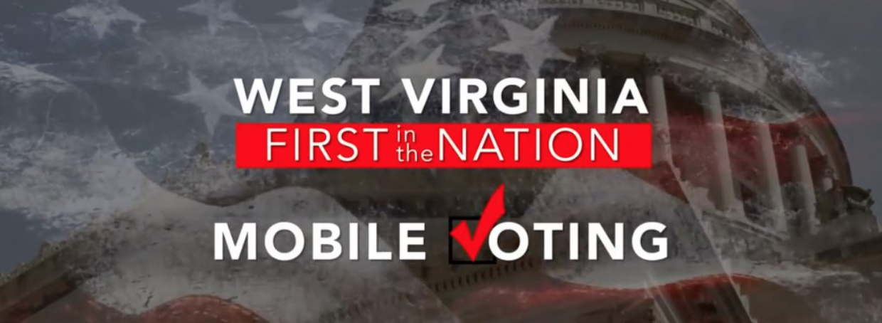 West Virginia mobile voting logo